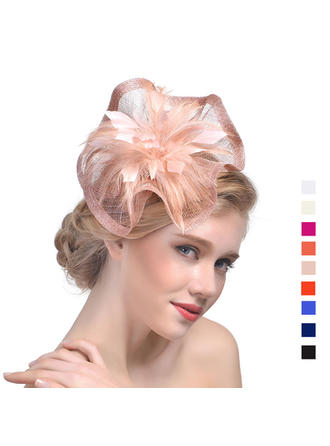 Cambric With Feather Fascinators Beautiful Ladies' Hats