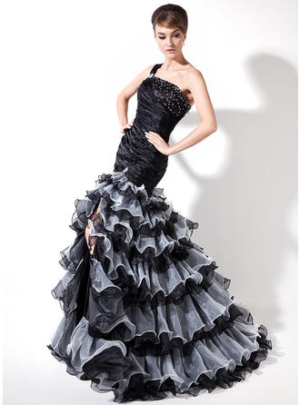 prom dresses with feathers