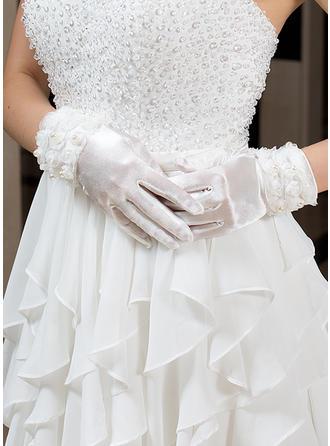 Elastic Satin Ladies' Gloves Wrist Length Party/Fashion Gloves/Bridal Gloves Fingertips Gloves