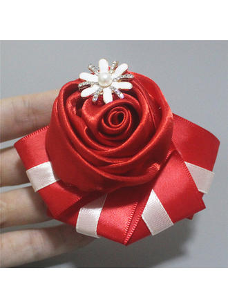 "Boutonniere Free-Form Wedding/Party/Casual Satin 4.72"" (Approx.12cm) Wedding Flowers (123190549)"