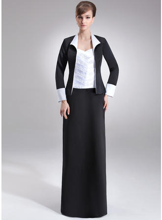 Elegant Sweetheart Sheath/Column Satin Mother of the Bride Dresses