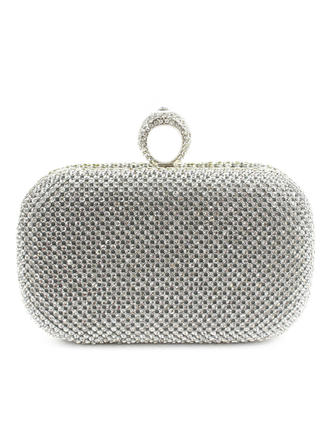 Clutches Ceremony & Party Satin Clip Closure Lovely Clutches & Evening Bags