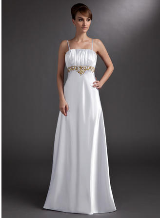 Empire Floor-Length Evening Dresses With Ruffle Beading
