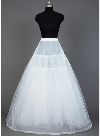 Petticoats Floor-length Nylon/Tulle Netting A-Line Slip 4 Tiers Petticoats