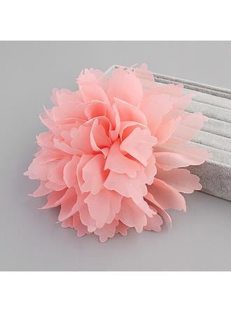 Élégante Fleur en soie Fleurs et plumes (Vendu dans une seule pièce)