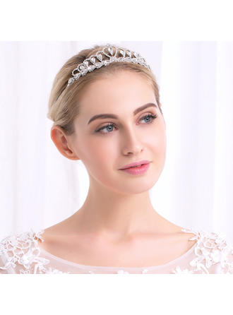 Tiaras Wedding Rhinestone/Alloy Glamourous Ladies Headpieces
