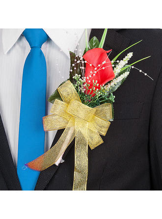 "Boutonniere Free-Form Wedding/Party 5.91""(Approx.15cm) 3.94""(Approx.10cm) Wedding Flowers"
