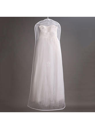Garment Bags Gown Length Tulle White Simple Wedding Garment Bag (035084617)