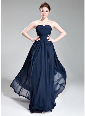 Chiffon Sweetheart A-Line/Princess Sleeveless Chic Evening Dresses
