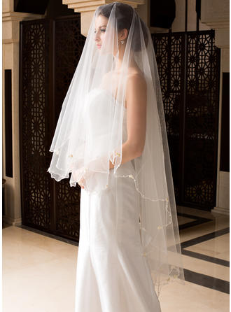 Waltz Bridal Veils Tulle One-tier Drop Veil With Pencil Edge Wedding Veils