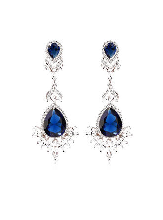 Charming Zircon/Platinum Plated Ladies' Earrings (011051044)