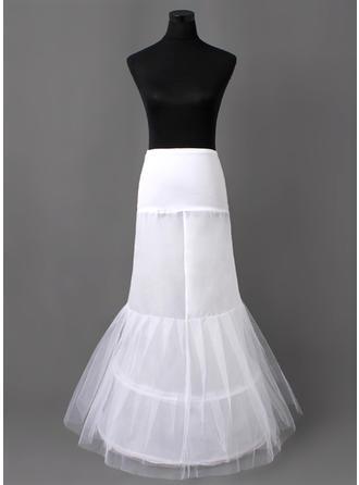 Unterröcke Bodenlang Nylon/Tüll Netting Meerjungfrau und Trompete Kleid Gleiten 2 Ebenen Reifröcke