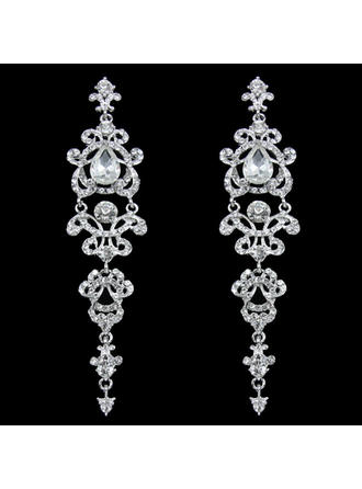 Earrings Alloy/Rhinestones Pierced Ladies' Chic Wedding & Party Jewelry