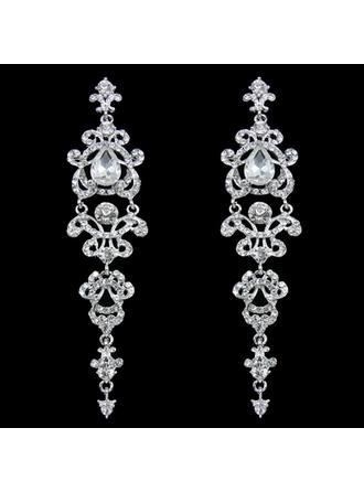 øredobber Legering/Rhinestones Gjennomboret Damene ' Elegant Bryllup- & Festsmykker