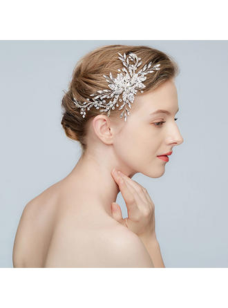 Beau Alliage épingles à cheveux avec Perle Vénitienne/Cristal (Vendu dans une seule pièce)