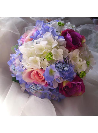 "Bridal Bouquets Free-Form Wedding Satin/Artificial Silk 11.81""(Approx.30cm) Wedding Flowers"