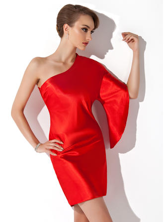 Sheath/Column Stunning Charmeuse General Plus Cocktail Dresses