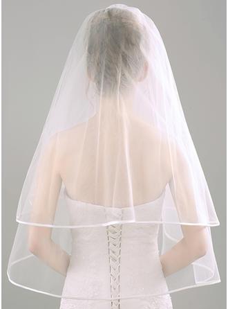 Zweischichtig Ellenbogen Braut Schleier mit Lace