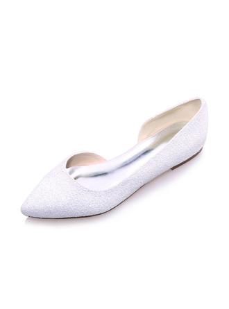 Frauen Geschlossene Zehe Flache Schuhe Flascher Absatz Kunstleder Brautschuhe