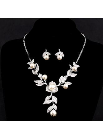 Jewelry Sets Alloy/Imitation Pearls Austrian Crystal Lobster Clasp Pierced Wedding & Party Jewelry