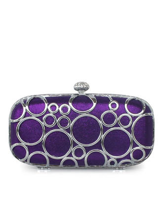 Clutches Wedding/Ceremony & Party/Office & Career Silk Clip Closure Gorgeous Clutches & Evening Bags