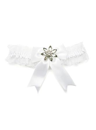 Прекрасный Oрганза с бантом атласная/горный хрусталь свадьба Подвязки