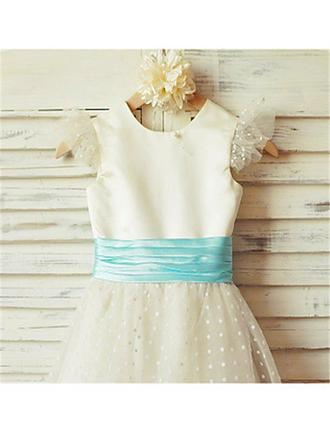 blue and gold flower girl dresses