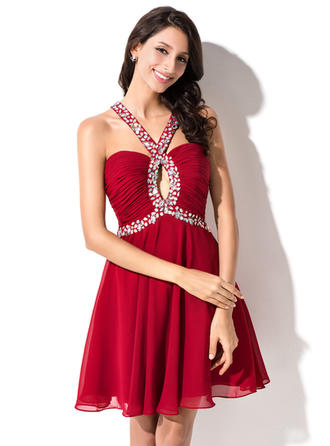 Magnificent Chiffon Homecoming Dresses A-Line/Princess Short/Mini Sweetheart Sleeveless