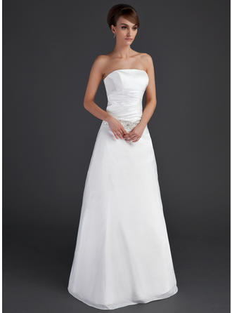 Taffeta Strapless Floor-Length Magnificent Wedding Dresses