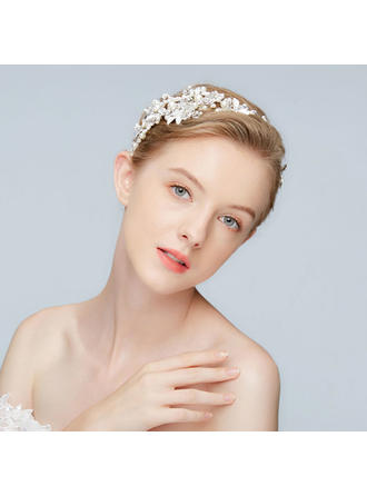 Beautiful Alloy Headbands With Venetian Pearl/Crystal (Sold in single piece)