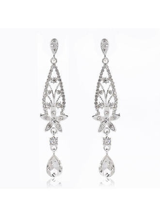 "Earrings Alloy/Rhinestones Ladies' Elegant 3.35""(Approx.8.5cm) Wedding & Party Jewelry"