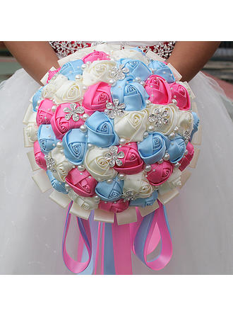 """Bridal Bouquets/Bridesmaid Bouquets Round Wedding/Party Satin 7.09""""(Approx.18cm) Wedding Flowers"""