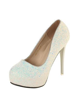 Femmes Escarpins Talon stiletto Pailletes scintillantes Chaussures de mariage