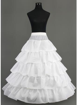 Petticoats Floor-length Nylon A-Line Slip 5 Tiers Petticoats