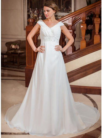 beach wedding dresses plus size
