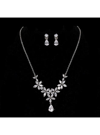 Jewelry Sets Alloy/Zircon Cubic Zirconia Lobster Clasp Ladies' Wedding & Party Jewelry (011168191)
