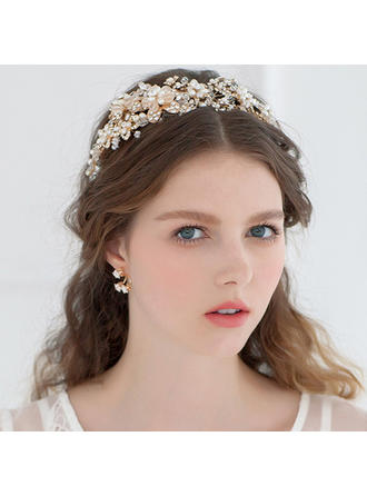 "Tiaras Wedding/Special Occasion Rhinestone/Imitation Pearls 5.53""(Approx.14cm) 5.53""(Approx.14cm) Headpieces"