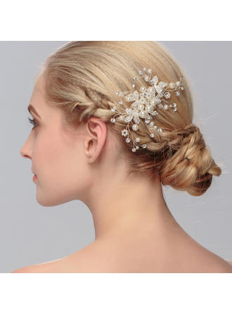 "Combs & Barrettes Wedding/Special Occasion/Party Imitation Pearls 4.53""(Approx.11.5cm) 2.76""(Approx.7cm) Headpieces"