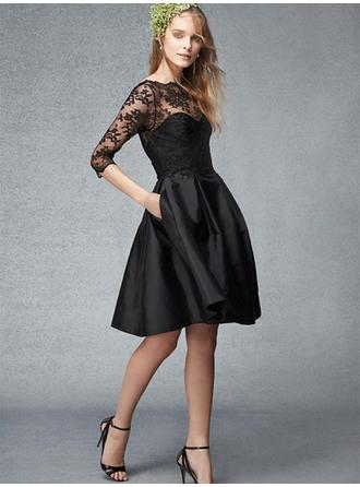Floor-Length Cocktail Dresses With Lace
