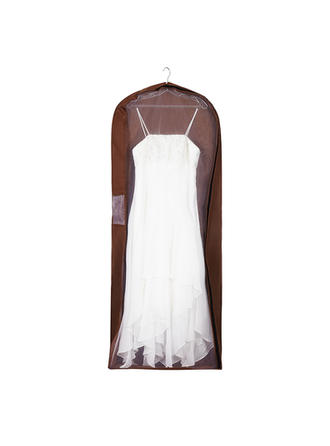 Garment Bags Dress Length Side Zip Tulle/Nonwoven Fabric Chocolate Wedding Garment Bag (035192302)