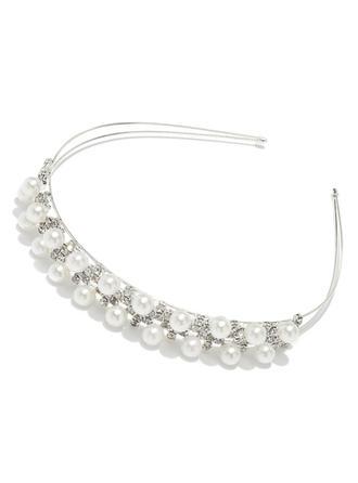 Lovely Alloy/Pearl Headbands