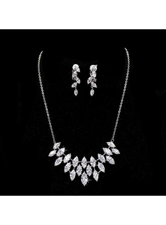Jewelry Sets Alloy/Zircon Cubic Zirconia Ladies' Elegant Wedding & Party Jewelry