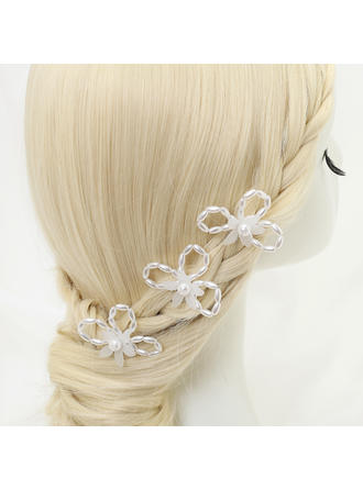 "Hairpins Wedding/Special Occasion/Party Alloy/Imitation Pearls 3.54""(Approx.9cm) 2.24""(Approx.5.7cm) Headpieces"