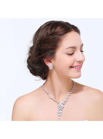 Jewelry Sets Zircon Cubic Zirconia Ladies' Exquisite Wedding & Party Jewelry