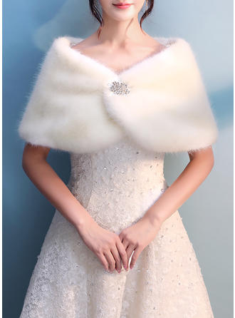 Wrap Wedding Faux Fur Ivory Wraps (013137436)