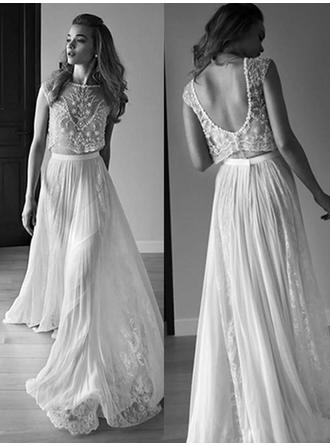 Sleeveless Scoop Neck With Tulle Wedding Dresses