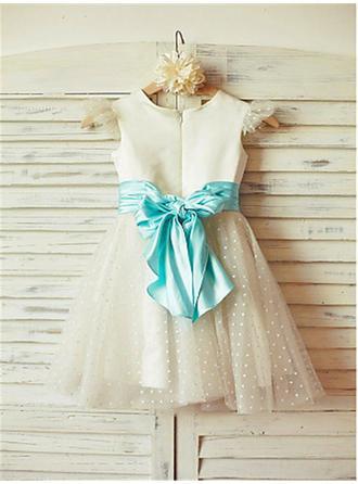 blue and white flower girl dresses