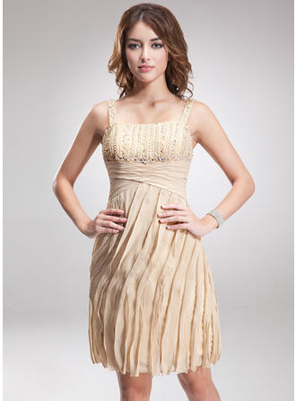 Elegant Sheath/Column Chiffon Cocktail Dresses