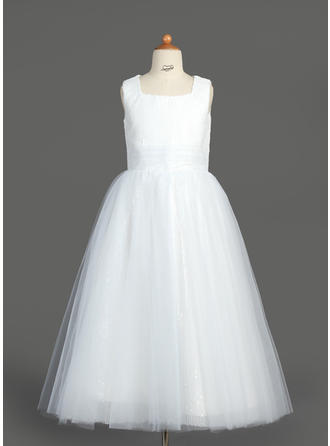 Tulle/Sequined A-Line/Princess Ruffles Elegant Flower Girl Dresses