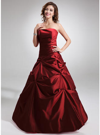 Ball-Gown Taffeta Magnificent Floor-Length Strapless Sleeveless